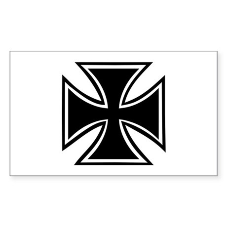 Iron cross Sticker (Rectangle)