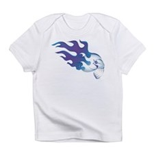 Flamin' Fangs Blue Skull Infant T-Shirt