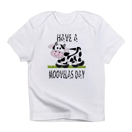 Cute Cow Moovalas day Infant T-Shirt