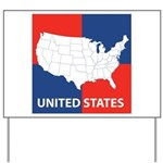 United States Map on 4 Square Yard Sign