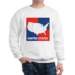 United States Map on 4 Square Sweatshirt
