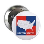 """United States Map on 4 Square 2.25"""" Button (100 pa"""