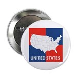 """United States Map on 4 Square 2.25"""" Button"""