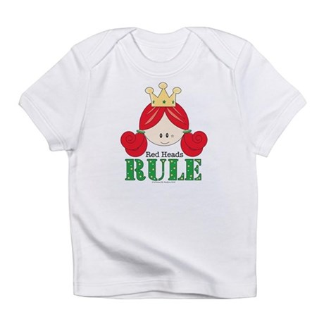 Red Heads Rule Pink Onesie Infant T-Shirt