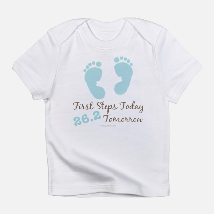 Blue Baby Footprints 26.2 Marathon Infant T-Shirt