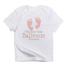 Pink Footprints Ballroom Dancing Onesie Infant T-S