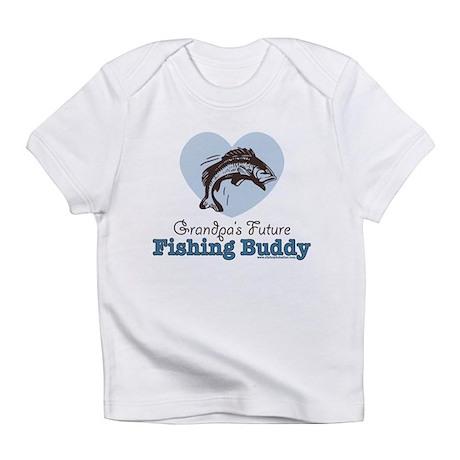 Grandpa 39 s future fishing buddy fisherman infant t shirt for Fishing shirt onesie