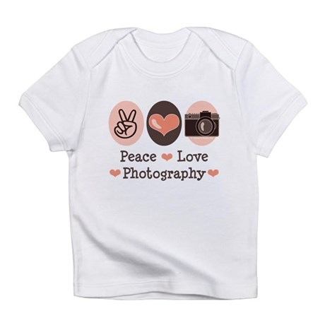 Peace Love Photography Camera Infant T-Shirt