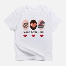 Peace Love Curl Curling Infant T-Shirt