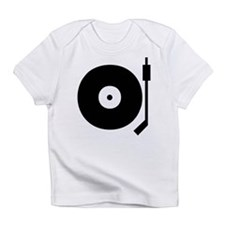 Old school record player blac Infant T-Shirt