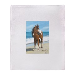 Beach Pony Throw Blanket