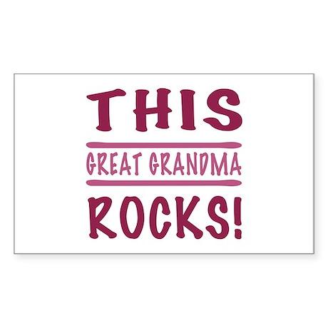 This Great Grandma Rocks Sticker (Rectangle)