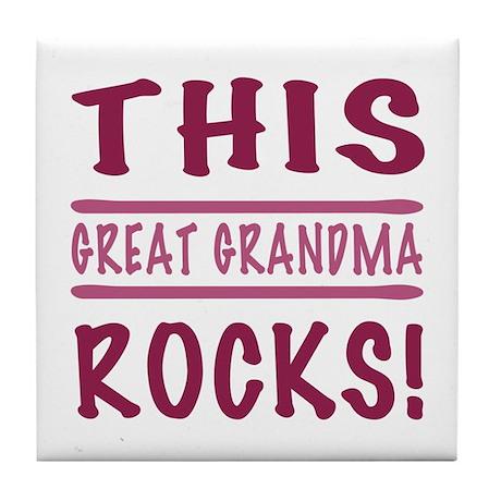 This Great Grandma Rocks Tile Coaster