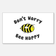 'Bee Happy' Rectangle Decal
