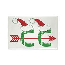 Cross Country Christmas Rectangle Magnet