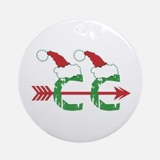 Cross Country Christmas Ornament (Round)