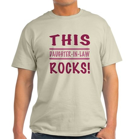 This Daughter-In-Law Rocks Light T-Shirt
