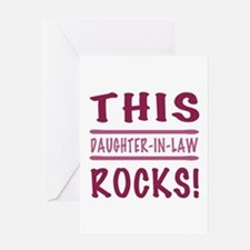 This Daughter-In-Law Rocks Greeting Card