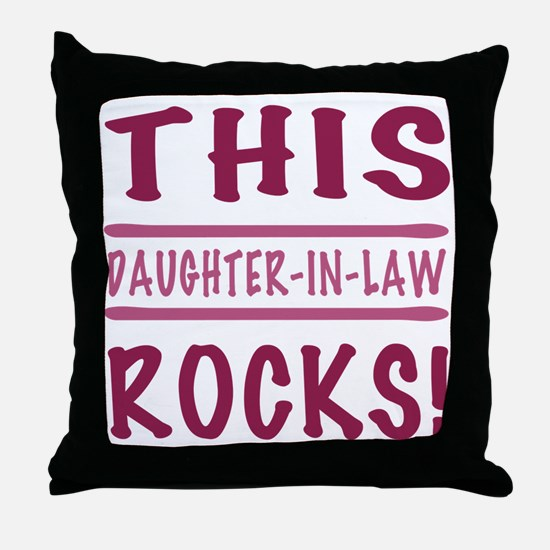 This Daughter-In-Law Rocks Throw Pillow