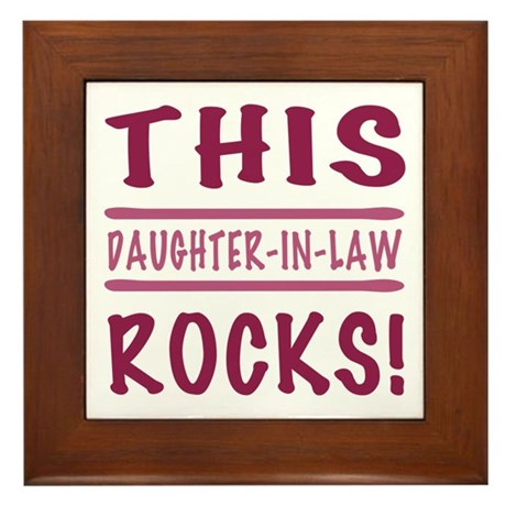 This Daughter-In-Law Rocks Framed Tile