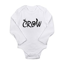 CROW Long Sleeve Infant Bodysuit