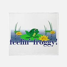 Feelin' Froggy Throw Blanket