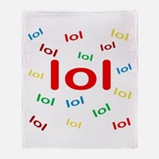 Laughing Out Loud Throw Blanket