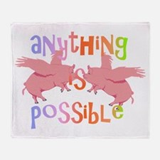 Anything is Possible Throw Blanket