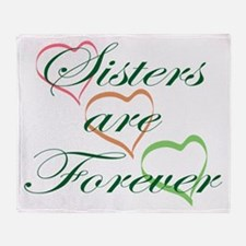 Sisters Are Forever Throw Blanket