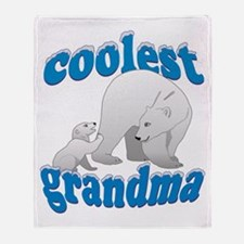 Coolest Grandma Throw Blanket