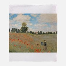 Cute Red poppy flower Throw Blanket