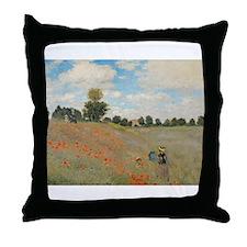 Unique Red poppy Throw Pillow