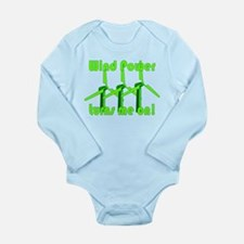 Wind Power Turns Me On Long Sleeve Infant Bodysuit
