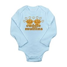 Cuddle Muffins in Love Long Sleeve Infant Bodysuit