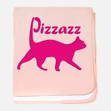 Pizzazz Cat baby blanket