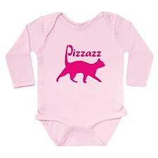 Pizzazz Cat Long Sleeve Infant Bodysuit