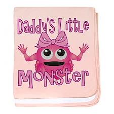 Girl Daddy's Little Monster baby blanket