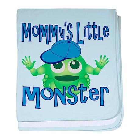 Boy Mommy's Little Monster baby blanket