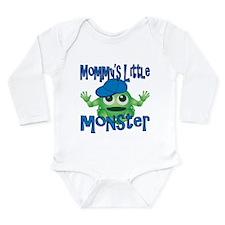 Boy Mommy's Little Monster Long Sleeve Infant Body