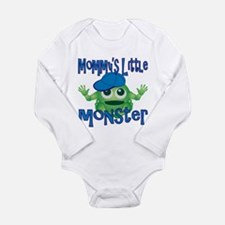 Boy Mommy's Little Monster Long Sleeve Infant Body