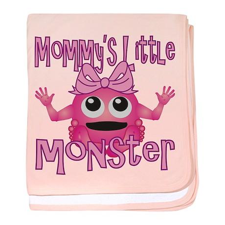 Girl Mommy's Little Monster baby blanket