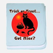 Got Mice Halloween Cat baby blanket
