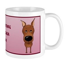 Big Nose Min Pin Mom Small Mugs