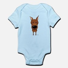 Big Nose Min Pin Infant Bodysuit