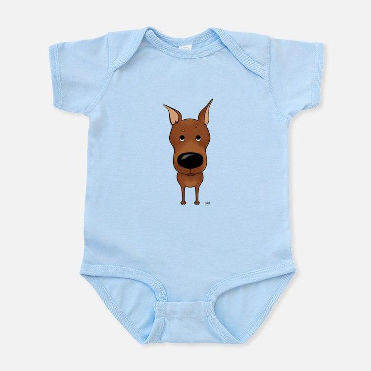 Big Nose Min Pin Infant Bodysuit