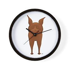 Big Butt Min Pin Wall Clock