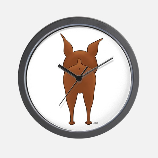Big Butt Min Pin Wall Clock