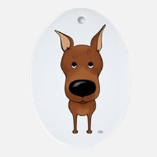 Big Nose Min Pin Ornament (Oval)