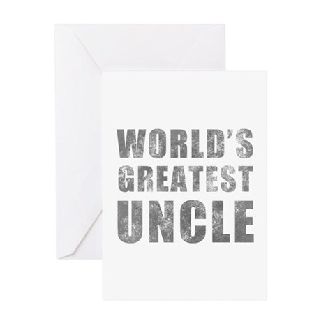 World's Greatest Uncle (Grunge) Greeting Card