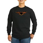 Flame Heart Tattoo Long Sleeve Dark T-Shirt